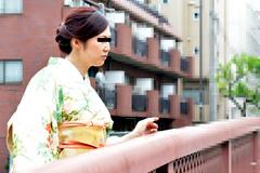 浅井色織 春だから上品に着物で面接に伺いました