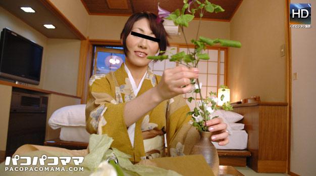 Pacopacomama 061111_390 Hidemi Takigawa 生け花を嗜む女